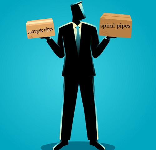 spirals vs corrugate pipes